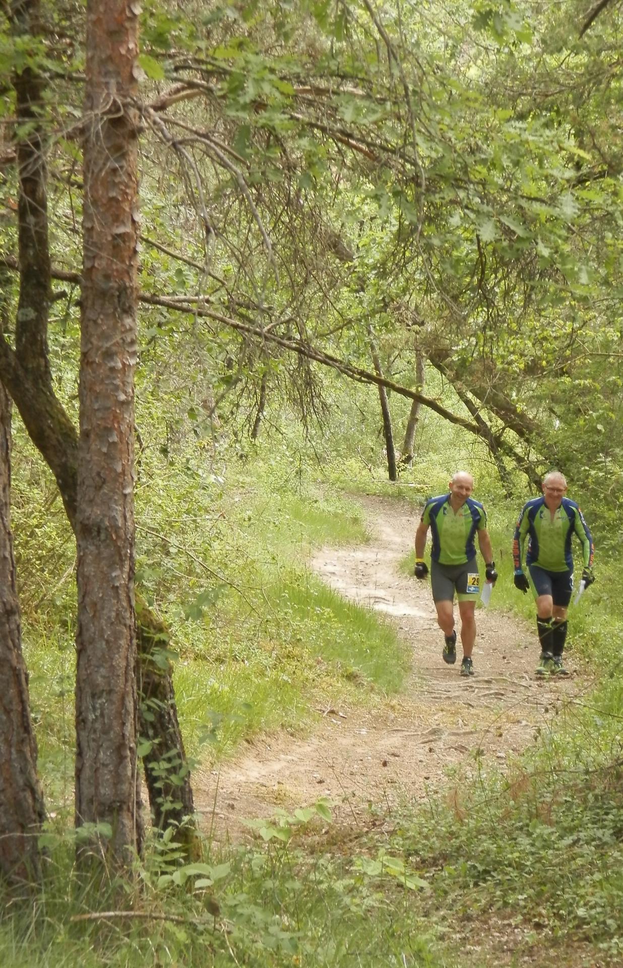 Corentin et Stéph' à la peine dans le trail