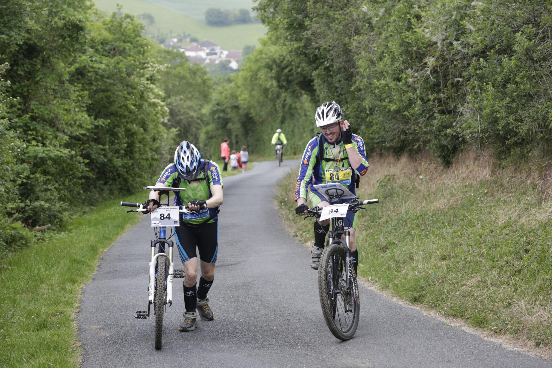 Jean-Marie et Thomas dernière montée avant l'arrivée