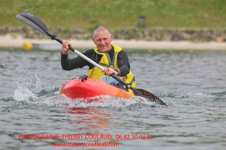 Stéph' en kayak à moi la remontée du St Laurent !